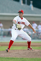 July 10th, 2007:  Justin Fiske of the Batavia Muckdogs, Short-Season Class-A affiliate of the St. Louis Cardinals at Dwyer Stadium in Batavia, NY.  Photo by:  Mike Janes/Four Seam Images