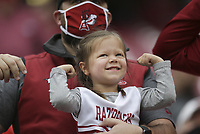 Arkansas fans flex, Saturday, November 21, 2020 during a football game at Donald W. Reynolds Razorback Stadium in Fayetteville. Check out nwaonline.com/201122Daily/ for today's photo gallery. <br />(NWA Democrat-Gazette/Charlie Kaijo)