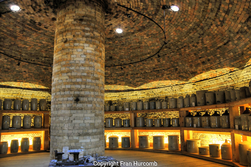 """inside one of the old """"hive"""" kilns at Medalta Pottery in Medicine Hat"""