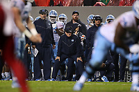 RALEIGH, NC - NOVEMBER 30: Head coach Mack Brown of the University of North Carolina during a game between North Carolina and North Carolina State at Carter-Finley Stadium on November 30, 2019 in Raleigh, North Carolina.