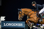 Anne-Sophie Godart of France rides Carlitto van't Zorgvliet in action during the Longines Grand Prix as part of the Longines Hong Kong Masters on 15 February 2015, at the Asia World Expo, outskirts Hong Kong, China. Photo by Victor Fraile / Power Sport Images