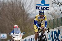 Fabio Van den Bossche (BEL/Sport Vlaanderen-Baloise)<br /> <br /> 105th Ronde van Vlaanderen 2021 (MEN1.UWT)<br /> <br /> 1 day race from Antwerp to Oudenaarde (BEL/264km) <br /> <br /> ©kramon