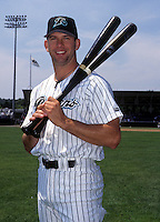 Todd Helton poses at Yale Field in New Haven, CT in 1996 (Photo by Ken Babbitt/Four Seam Images)
