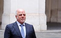 Il primo ministro dell'Iraq Haider al-Abadi a Palazzo Chigi, Roma, 10 febbraio 2016.<br /> Iraqi Prime Minister Haider al-Abadi at Chigi palace, Rome, 10 February 2016.<br /> UPDATE IMAGES PRESS/Riccardo De Luca