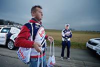 Kuurne-Brussel-Kuurne 2012<br /> carer Raoul Saren waiting for the boys