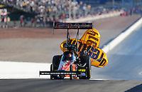 Apr. 13, 2008; Las Vegas, NV, USA: NHRA top fuel dragster driver Cory McClenathan after winning the SummitRacing.com Nationals at The Strip in Las Vegas. Mandatory Credit: Mark J. Rebilas-