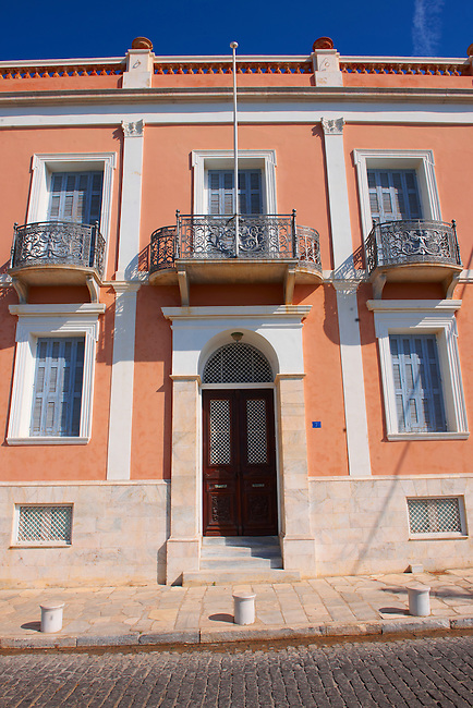 The Neo Classic buildings,  Ermoupolis, Syros, Greek Cyclades Islands