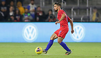ORLANDO, FL - NOVEMBER 15: Sebastian Lletget #17 of the United States turns and moves with the ball during a game between Canada and USMNT at Exploria Stadium on November 15, 2019 in Orlando, Florida.
