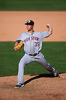 Glendale Desert Dogs pitcher Chris Cotton (35) delivers a pitch during an Arizona Fall League game against the Surprise Saguaros on October 23, 2015 at Salt River Fields at Talking Stick in Scottsdale, Arizona.  Glendale defeated Surprise 9-6.  (Mike Janes/Four Seam Images)