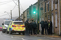 2018 01 28 Armed police in Maesteg, Wales, UK