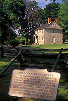 AJ2751, Valley Forge Park, Valley Forge, Pennsylvania, Washington's Headquarters in Valley Forge National Historical Park in Valley Forge in the state of Pennsylvania.