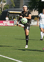 Tiffany Weimer brings down the ball. FC Gold Pride tied the Chicago Red Stars 1-1 at Buck Shaw Stadium in Santa Clara, California on June 7th, 2009.