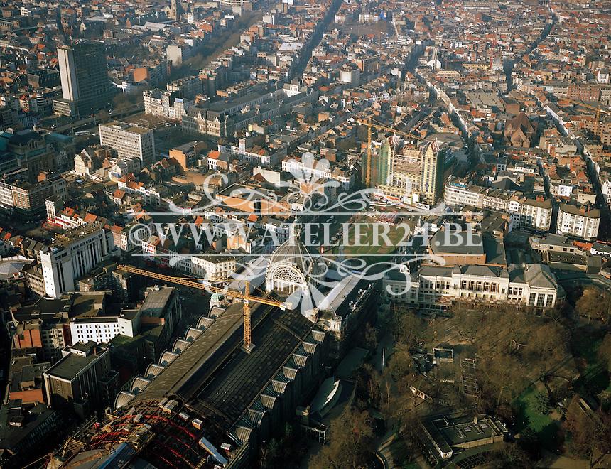 Februari 1996. Centraal Station en de Zoo aan het Astridplein in Antwerpen.