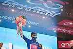 Ruben Guerreiro (POR) EF Pro Cycling wins Stage 9 and also takes over the mountains Maglia Azzurra of the 103rd edition of the Giro d'Italia 2020 running 208km from San Salvo to Roccaraso (Aremogna), Sicily, Italy. 11th October 2020.  <br /> Picture: LaPresse/Massimo Paolone   Cyclefile<br /> <br /> All photos usage must carry mandatory copyright credit (© Cyclefile   LaPresse/Massimo Paolone)
