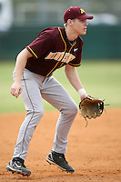 February 22, 2009:  Third baseman Kyle Geason (4) of the University of Minnesota during the Big East-Big Ten Challenge at Naimoli Complex in St. Petersburg, FL.  Photo by:  Mike Janes/Four Seam Images