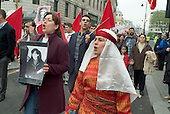 Members of the Turkish Communist Party on a TUC May Day march, The Strand, London.