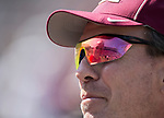 North Carolina State head coach Dave Doeren is reflected in Florida State head coach Jimbo Fisher's glasses as they talk before an NCAA college football game in Tallahassee, Fla., Saturday, Sept. 23, 2017.  (AP Photo/Mark Wallheiser)