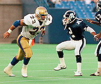 Craig Harrison Winnipeg Blue Bombers 1991. Photo F. Scott Grant