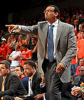 CHARLOTTESVILLE, VA- NOVEMBER 26:  Virginia Cavalier assistant head coach Jason Williford during the game on November 26, 2011 at the John Paul Jones Arena in Charlottesville, Virginia. Virginia defeated Green Bay 68-42. (Photo by Andrew Shurtleff/Getty Images) *** Local Caption *** Jason Williford
