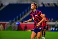SAITAMA, JAPAN - JULY 24: Alex Morgan #13 of the United States during a game between New Zealand and USWNT at Saitama Stadium on July 24, 2021 in Saitama, Japan.