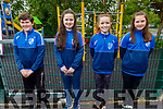 Shaiden Lyne, Ciara Griffin, Katie Keenan and Aoife Foley the four Ballyfinnane NS students at their graduation ceremony at the Community Hall on Saturday.