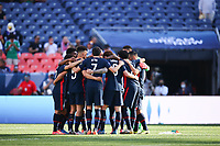 DENVER, CO - JUNE 3: USMN huddle during a game between Honduras and USMNT at Empower Field at Mile High on June 3, 2021 in Denver, Colorado.