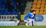 St Johnstone v Hibernian…27.02.19…  McDiarmid Park    SPFL<br />Scott Tanser reacts at full time<br />Picture by Graeme Hart. <br />Copyright Perthshire Picture Agency<br />Tel: 01738 623350  Mobile: 07990 594431