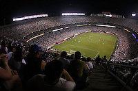 Fans watch the game. The men's national teams of the United States and Argentina played to a 0-0 tie during an international friendly at Giants Stadium in East Rutherford, NJ, on June 8, 2008.