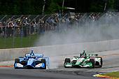 Felix Rosenqvist, Chip Ganassi Racing Honda, Colton Herta, Harding Steinbrenner Racing Honda