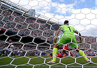 Chicago, IL - Sunday July 28, 2013:   USMNT forward Landon Donovan (10) attempts to take a shot on Panama's goalkeeper Jaime Penedo (1) during the CONCACAF Gold Cup Finals soccer match between the USMNT and Panama, at Soldier Field in Chicago, IL.