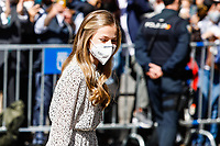 MADRID, SPAIN-March 24: **NO SPAIN** Princess Leonor attends the 30th anniversary of the Cervantes institute at the Cervantes institute office in Madrid, Spain on March 24, 2021. <br /> CAP/MPI/RJO<br /> ©RJO/MPI/Capital Pictures