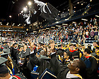May 16, 2015; Master degree graduates throw their caps in the air at the closing of the Graduate School Commencement ceremony. (Photo by Matt Cashore/University of Notre Dame)