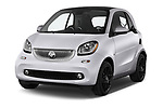 2017 Smart fortwo prime 3 Door micro car angular front stock photos of front three quarter view