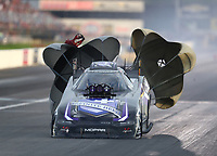Aug 31, 2019; Clermont, IN, USA; NHRA funny car driver Jack Beckman during qualifying for the US Nationals at Lucas Oil Raceway. Mandatory Credit: Mark J. Rebilas-USA TODAY Sports