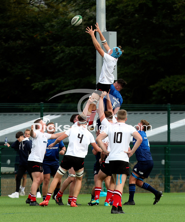 Saturday 4th September 20218 <br /> <br /> Patrick Fullarton-Healey during U18 Schools inter-pro between Ulster Rugby and Leinster at Newforge Country Club, Belfast, Northern Ireland. Photo by John Dickson/Dicksondigital