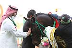February 19, 2021: EMBLEM GAME #2 win the first race of the afternoon on International Jockeys Challenge Day with F. Alfrouaidi onboard, King Abdulaziz Racecourse, Riyadh, Saudi Arabia. Shamela Hanley/Eclipse Sportswire/