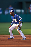 Oklahoma City Dodgers second baseman Darnell Sweeney (9) during a game against the Fresno Grizzles on June 1, 2015 at Chickasaw Bricktown Ballpark in Oklahoma City, Oklahoma.  Fresno defeated Oklahoma City 14-1.  (Mike Janes/Four Seam Images)