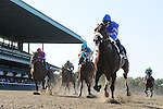 03 October 10: Girolamo and jockey Alan Garcia cruise to victory in the Vosburgh Stakes at Belmont Park in Elmont, New York