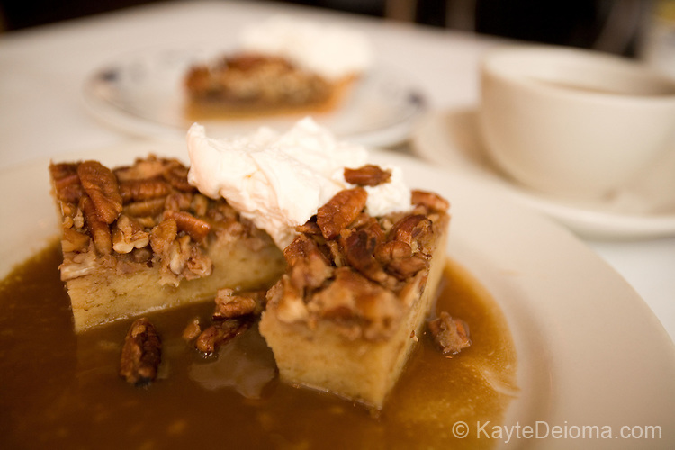 Bread Pudding with Pecans and Toffee Sauce at Upperline Restaurant in Uptown, New Orleans, LA