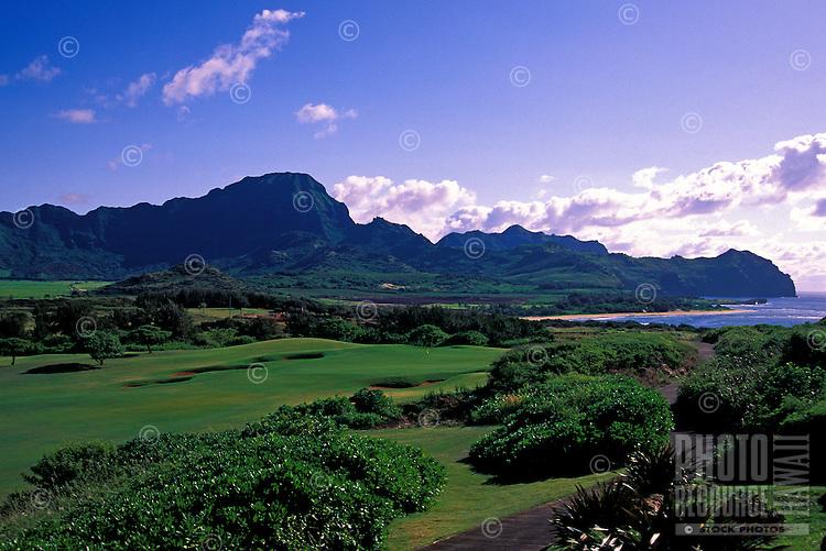 Hole No. 14 of Poipu Bay Resort golf course on Kauai