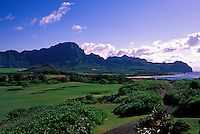 Hole No. 14 of Poipu Bay Resort golf course on Kauai