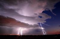 Lightning, storm, storm chasing, storm chaser, Arizona, weather, clouds, desert, mountains, rain, monsoon, sunset