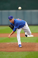 Eric Jokisch #22 of the Iowa Cubs pitches against the New Orleans Zephyrs at Principal Park on July  24, 2014 in Des Moines, Iowa. The Cubs won 11-2.   (Dennis Hubbard/Four Seam Images)