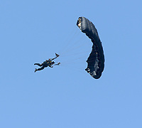 FORT LAUDERDALE, FL - MAY 04: SOCOM Para-Commandos performs in the Fort Lauderdale Air Show on May 4, 2019 in Fort Lauderdale, Florida<br /> <br /> <br /> People:  SOCOM Para-Commandos
