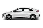 Car driver side profile view of a 2017 Hyundai Ioniq Plug-In Hybride Executive 5 Door Hatchback