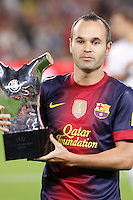 02/09/2012 - Liga Football Spain, FC Barcelona vs. Valencia CF Matchday 3 - Iniesta awarded best european player 2012
