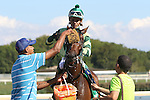 September 19, 2015. Uncle Dave, Jorge Vargas up, wins the $100,000. Alphabet Soup Handicap Stakes, one and 1/16 miles on the turf for registered PA breds three and upwards, at  Parx Racing in Bensalem, PA.  Trainer is Marcos Zulueta, owner M-Z Racing Partnership. (Joan Fairman Kanes/ESW/CSM)