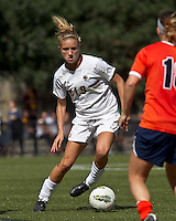 Boston College midfielder Kristen Mewis (19) dribbles. Boston College defeated University of Virginia, 2-0, at the Newton Soccer Field, on September 18, 2011.