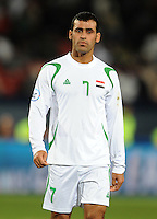 Emad Mohammed of Iraq. Iraq and New Zealand tied 0-0 during the FIFA Confederations Cup at Ellis Park Stadium in Johannesburg, South Africa on June 20, 2009..