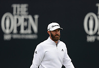 14th July 2021; The Royal St. George's Golf Club, Sandwich, Kent, England; The 149th Open Golf Championship, practice day; Dustin Johnson (USA) walks from the tee at the 1st hole